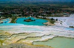 Lugar asombroso Pamukkale Imagen de archivo libre de regalías