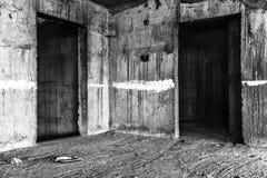 Lugar assustador de construção abandonado Foto de Stock