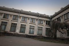 Lugar assustador na capital ucraniana foto de stock royalty free