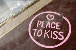 Lugar a beijar Foto de Stock