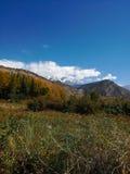 Lugar bonito com montanhas Fotos de Stock Royalty Free
