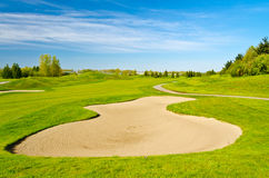 Lugar bonito do golfe. Imagens de Stock