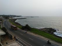 Lugar bonito do lado da praia de Sri Lanka imagem de stock royalty free