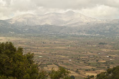 lugar bonito do platô de Lassithi da montanha da natureza Fotos de Stock