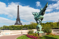 Lugar bonito em Paris Foto de Stock Royalty Free