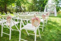 Lugar bonito para a cerimônia de casamento exterior Imagem de Stock Royalty Free