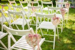 Lugar bonito para a cerimônia de casamento exterior Fotografia de Stock Royalty Free