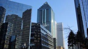 Lugar da finança em Montreal Foto de Stock
