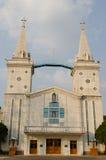 Lugar da igreja em Nakhonphanom, Tailândia Fotos de Stock Royalty Free