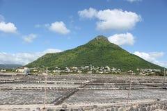 Lugar da produção de sal de Maurícias Foto de Stock Royalty Free