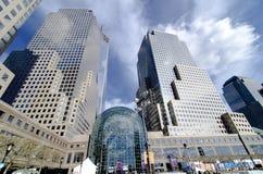 Lugar de Brookfield anteriormente o centro financeiro de mundo Foto de Stock Royalty Free