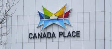 Lugar de Canadá en Vancouver - VANCOUVER - CANADÁ céntricos - 12 de abril de 2017 Foto de archivo