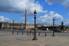 Lugar de Concorde em Paris, França Imagens de Stock