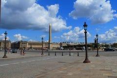 Lugar de Concorde en París, Francia Fotografía de archivo libre de regalías