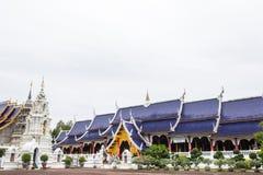 Lugar de culto bonito com ensinos religiosos em Chiangmai fotografia de stock royalty free