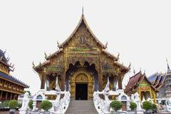 Lugar de culto bonito com ensinos religiosos em Chiangmai fotos de stock royalty free