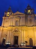 Lugar de culto, Valletta, Malta Fotografia de Stock Royalty Free