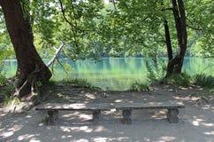 Lugar de descanso en Plitvice Fotografía de archivo libre de regalías
