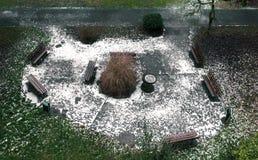 Lugar de descanso no parque em Luxemburgo Imagens de Stock