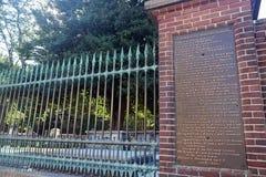 Lugar de enterramiento del ` s de Ben Franklin foto de archivo