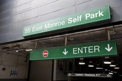 Lugar de estacionamento em 55 Monroe St do leste Imagem de Stock Royalty Free