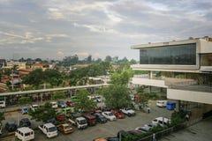 Lugar de estacionamento de Gaisano visto de sua terceira entrada do assoalho Imagens de Stock Royalty Free