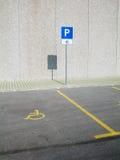Lugar de estacionamento inválido Fotografia de Stock Royalty Free