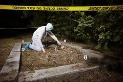 Lugar de Explorint del crimen Fotos de archivo libres de regalías