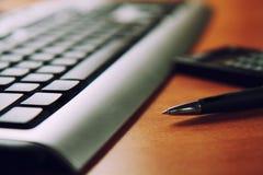 Lugar de funcionamento com teclado Imagem de Stock Royalty Free