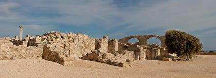 Lugar de Kourion em Chipre fotografia de stock