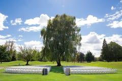 Lugar de la boda del campo de golf Foto de archivo