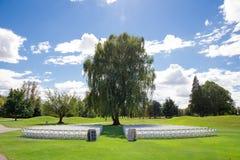 Lugar de la boda del campo de golf Foto de archivo libre de regalías