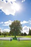 Lugar de la boda del campo de golf Fotos de archivo