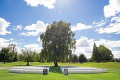 Lugar de la boda del campo de golf Fotografía de archivo