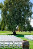 Lugar de la boda del campo de golf Imágenes de archivo libres de regalías
