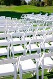 Lugar de la boda del campo de golf Fotos de archivo libres de regalías
