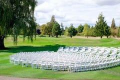 Lugar de la boda del campo de golf Fotografía de archivo libre de regalías