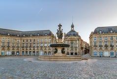 Lugar de la a Bolsa, Bordéus, França foto de stock