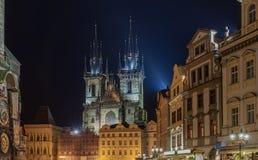 Lugar de la ciudad vieja en Praga Imágenes de archivo libres de regalías