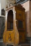 Lugar de la confesión Foto de archivo