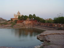 Lugar de la cremación del Maharaj3a Foto de archivo libre de regalías