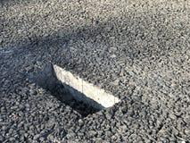 Lugar de la muestra de capa concreta del asfalto kern Foto de archivo libre de regalías
