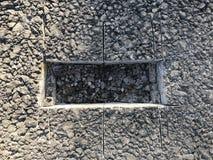Lugar de la muestra de capa concreta del asfalto kern Imágenes de archivo libres de regalías