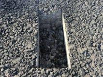 Lugar de la muestra de capa concreta del asfalto kern Fotografía de archivo