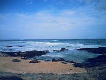 Lugar de la natación de la costa Fotografía de archivo