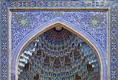 Lugar de la pared de Decoratid en el mausoleo del Gur-e-emir, Samarkand imagen de archivo