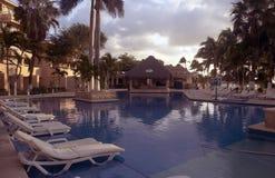 Lugar de la piscina Fotos de archivo libres de regalías