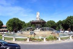 Lugar de la Rotonde, Aix-en-Provence Fotos de Stock Royalty Free