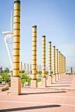 Lugar de los Juegos Olímpicos de Barcelona en 1992 Imágenes de archivo libres de regalías