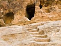 Lugar de Nabatean de la adoración de dios Foto de archivo libre de regalías